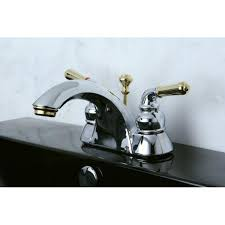 Two Tone Bathroom Two Tone Chrome And Brass Bathroom Faucet Free Shipping Today