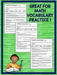 math 5th grade cloze worksheet vocabulary activities chapters 1