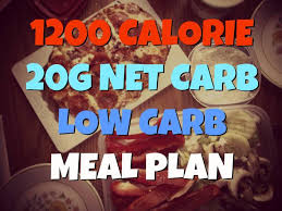 1200 calorie 20g net carb one week low carb meal plan good 4 u