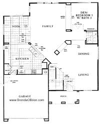 floor plans for 3 bedroom ranch homes black horse ranch floor plan kb home model 3233 downstairs