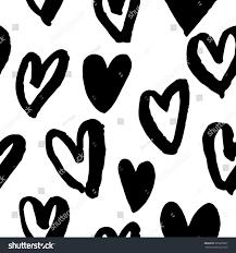 pattern hearts vector sketch valentine day stock vector 535665997