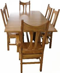 Hickory Dining Room Table by Amish Trenta Hickory Dining Set