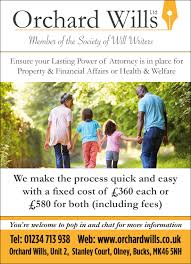 Power Of Attorney Cost by Lasting Power Of Attorney Orchard Wills Olney
