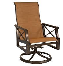 Swivel Rocker Patio Chair by Andover Sling High Back Swivel Rocker Woodard Furniture