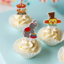 circus cake toppers circus carnival theme favor tags cupcake bun cake topper party