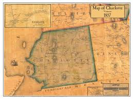 Map Of Charlotte Directory Vermont Vt Towns Chittendenco