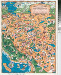 San Jose Map by Delightful Santa Clara County Cartoon Map