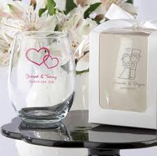 wedding favors personalized personalized stemless wine glass wedding bridal shower