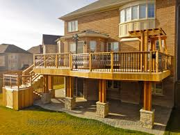 Deck Plans With Pergola by Complete Landscaping Project With Large Deck And Pergola Toronto