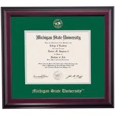 of michigan diploma frame michigan state school color traditional diploma frame michigan