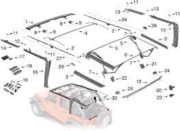 jeep wrangler unlimited soft top jeep wrangler jk soft top hardware parts 4 door quadratec