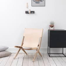 Folding Chair Leather Saxe Leather Lounge Chair By Lassen Kontrast Danish