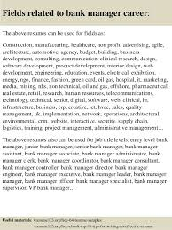 Bank Manager Resume Samples by Top 8 Bank Manager Resume Samples