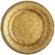 golden chania charger plate pier 1 imports