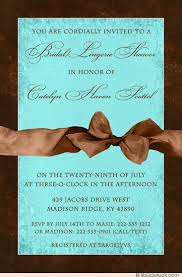 Lingerie Party Invitations Bridal Lingerie Shower Invitation Warm Brown Blue Wedding