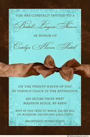 Blue Wedding Lingerie Bridal Lingerie Shower Invitation Warm Brown Blue Wedding