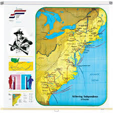 Map Of Eastern United States by Achieving Independence Wall Map 1775 1783 Eastern United States