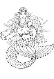 free printable little mermaid colouring pages ariel mermaid