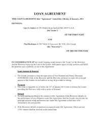 gallery of doc 12751650 doc413585 sample of loan agreement letter