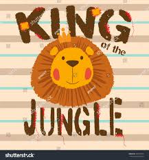 thanksgiving slogans cute lion king jungle slogan animal stock vector 396370744