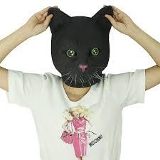 amazon com novelty latex rubber creepy cat head mask halloween