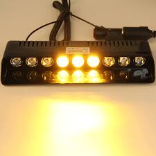 golf cart led strobe lights 9 led amber yellow light emergency car vehicle warning strobe