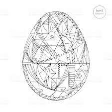 easter egg vector illustration hand drawn abstract holidays design