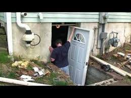 Install Basement Door by Basement Entrance Part 1 Youtube
