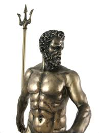 amazon com greek god poseidon bronzed statue neptune home