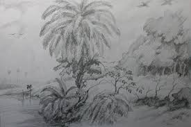 how to draw a date palm tree with pencil step by step youtube