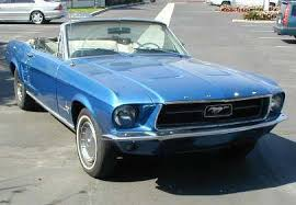 the with the blue mustang 1967 mustang convert blue front topdown jpg