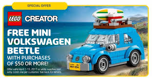 blue volkswagen beetle brickfinder lego mini volkswagen beetle promotion details