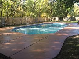 Backyard Pool And Basketball Court Concrete Services Stamped Concrete Concrete Repair