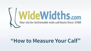 widewidths com how to measure your calf to choose the right boot