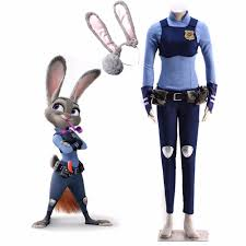 halloween costumes for bunny rabbits aliexpress com buy movie zootopia officer judy hopps cosplay