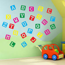 vinyl concept unique wall and window decals stickers transfers alphabet letters a to z wall stickers decal nursery school children kids a130