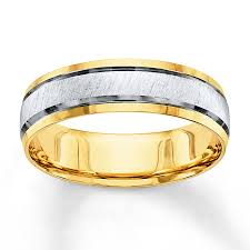 mens two tone wedding bands jared wedding band 10k two tone gold 6mm