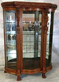 antique curio cabinet with curved glass oak china cabinet mirrored oak china cabinet oak china cabinet with