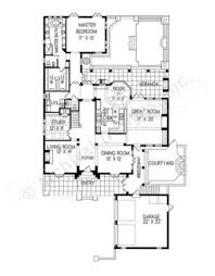mansi courtyard house plan narrow house plan