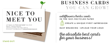 plantable business cards seeded paper business cards green