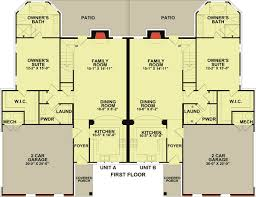 townhouse designs and floor plans 2 unit townhouse design with back patio 83124dc architectural