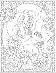 creative haven alice wonderland designs coloring book dover
