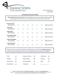 community concerns survey remark software