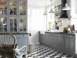 ultra modern kitchen combining black white and grey color ideas