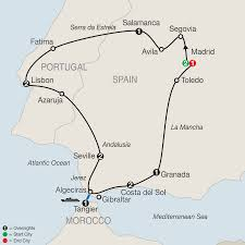 Map Of Spain And Morocco by Morocco Tours Globus Escorted Europe Tours