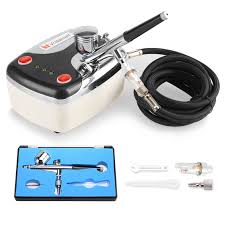 air brush compressor dual action spray gun airbrush kit 0 3mm needle a