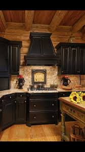 Black Cabinets Kitchen 88 Best Log Cabin Kitchen Ideas Images On Pinterest Kitchen
