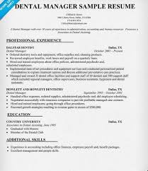 dental resume exles dental office manager resume sle http getresumetemplate info