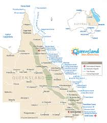 map of queensland australia map of queenlsand outback great barrier reef