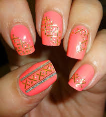 wendy u0027s delights elegant touch coral nail wraps
